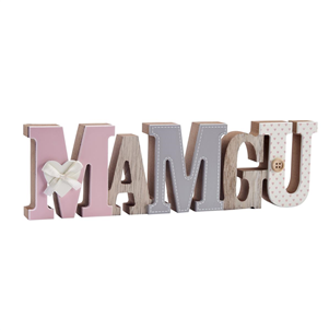 """Mamgu"" Welsh wooden word block"
