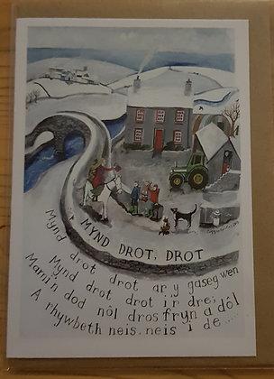 Lizzie Spikes Driftwood designs card -  Mynd Drot Drot
