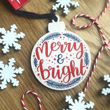 Merry and Bright Christmas Decoration