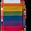 Thumbnail: Mr Heron Bamboo Socks - Rainbow thick stripe Mens