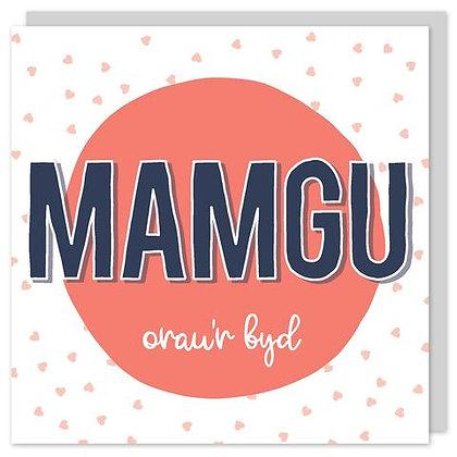Draenog - Cardiau Sul y Mamau - Mamgu oaru'r byd POP21