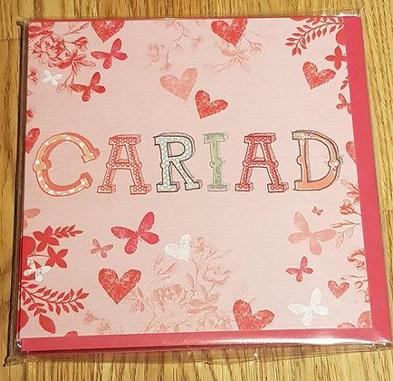 Carden Cyfarch Cariad  (Love ) Greering Card