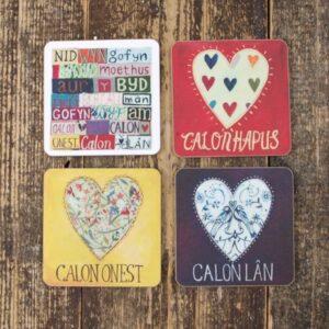 Driftwood Designs Calon Lan Set of 4 Coasters