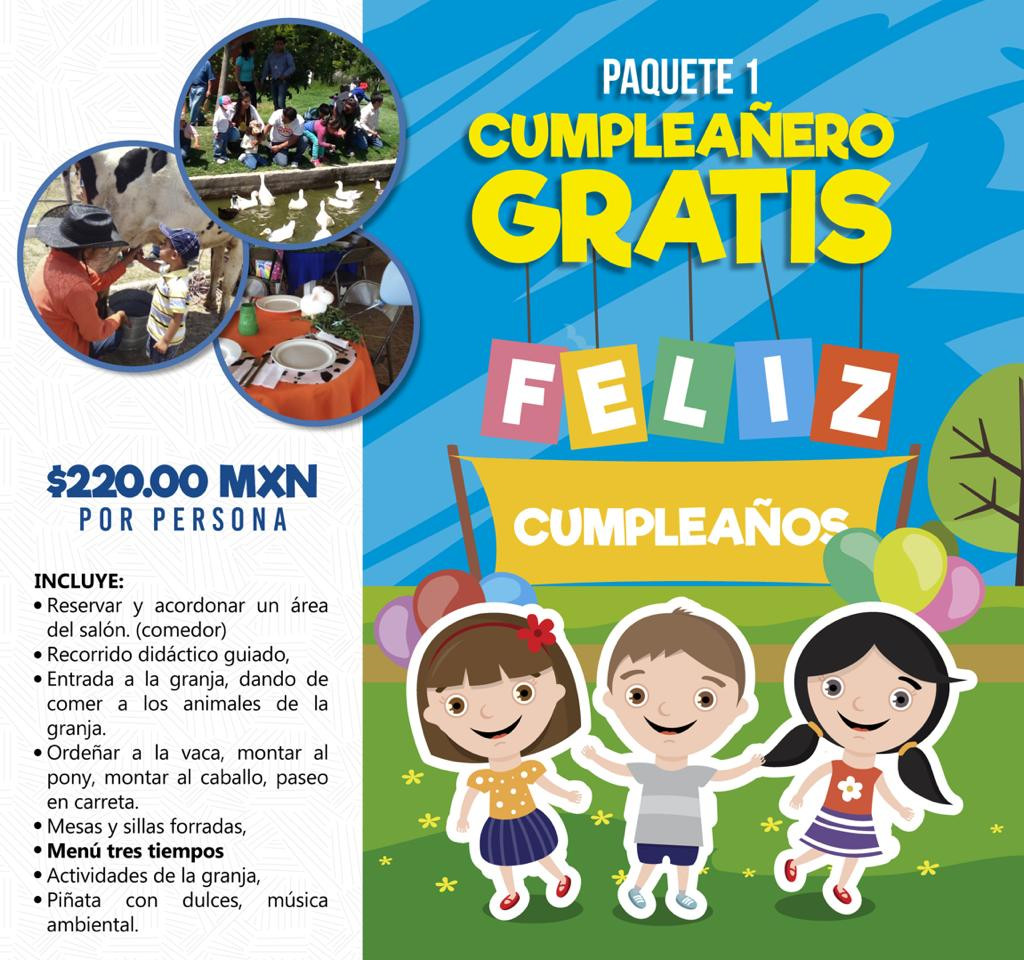 PTE. 1 Cumpleañero gratis