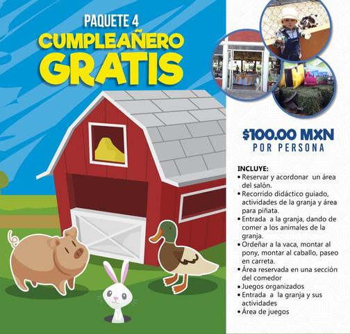 PTE. 4 Cumpleañero gratis