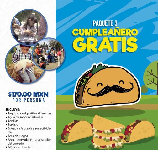 PTE. 3 Cumpleañero gratis