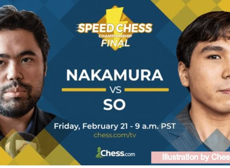Wesley Watch: So vs. Nakamura in Speed Chess Championship Friday