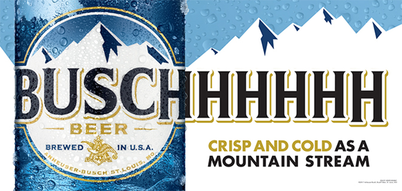 BUSCH COLD AS A MOUNTAIN ADO 1