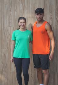 Camisas de manga curta e regata