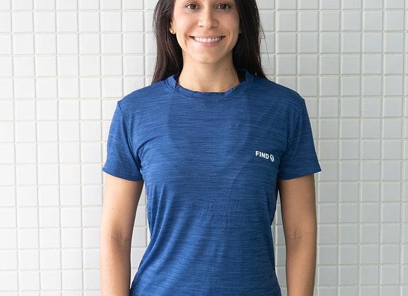 Camisa Mesclada Azul Marinho