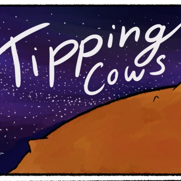Tipping cow Comic