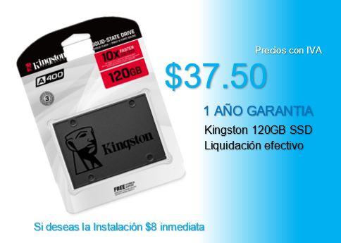 Liquidación efectivo SSD120GB