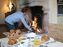 Petit déjeuner à la Terre d'Or lors d'un week end de cours de cuisine aux Truffes