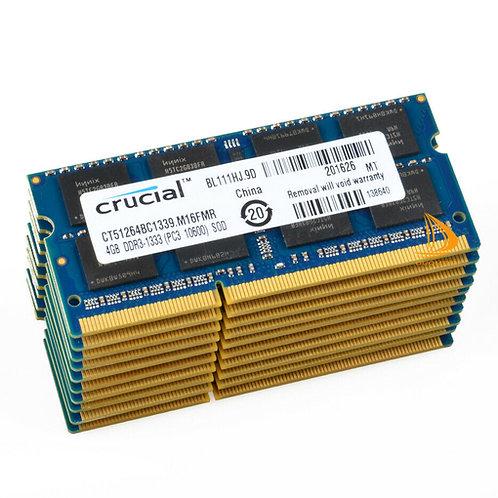 Memorias de 4GB 2RX8 PC3-10600S DDR3 1333Mhz Laptop