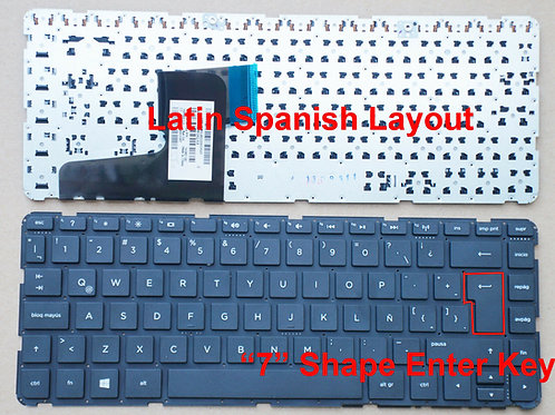 Teclados HP 14-d021la 14-d022la Latin Spanish Teclado