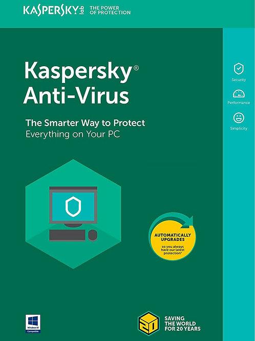 Kaspersky Antivirus security 2019 2020 1 PC 1 AÑO Key