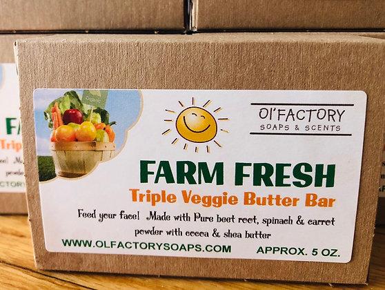 Farm Fresh Triple Veggie Butter Bar