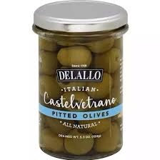 Delallo Pitted Castelvetrano Olives
