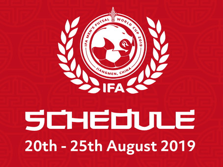 Schedule confirmed for Men's World Cup