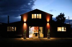 'The Barn' at dusk