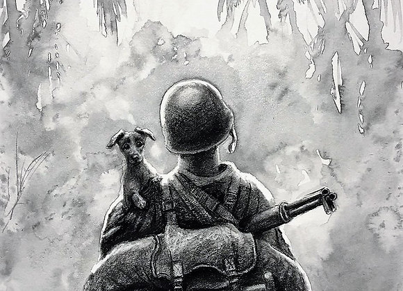"Guadalcanal, 13"" x 14"""
