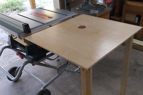 Folding Outfeed Table Saw Table