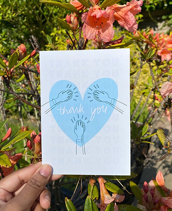 Thank you card | NHS & Keyworkers | A6 thank you greeting card
