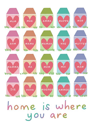 Home is where you are | Multi language | Mother's Day card