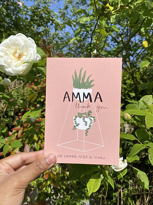 Amma thank you for looking after us | A6 Tamil greeting card
