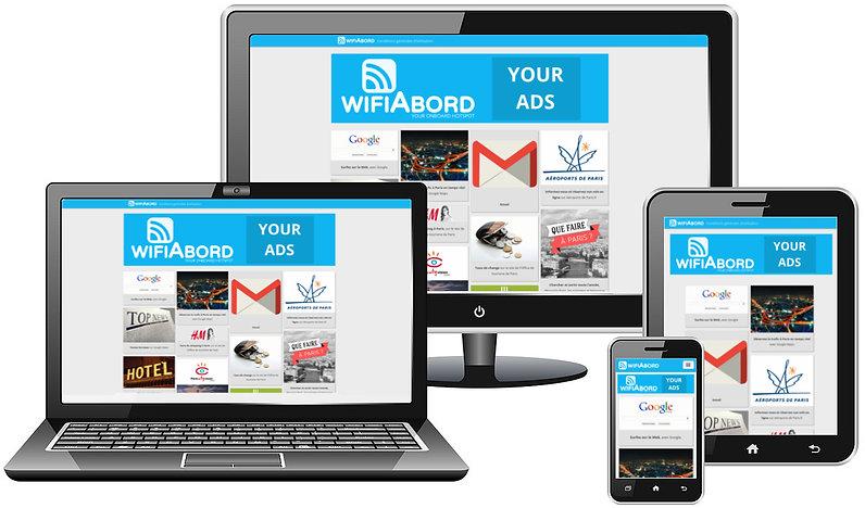 Portail captif responsive design pour mobiles, tablettes et ordinateurs pour votre Wifi à bord