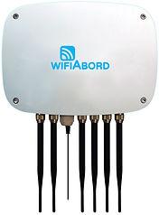 La box IP65 assure la diffusion de Wifi embarqué jusqu'à 120 peronnes, même en extérieur