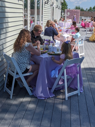Princess Party on the Outdoor Deck