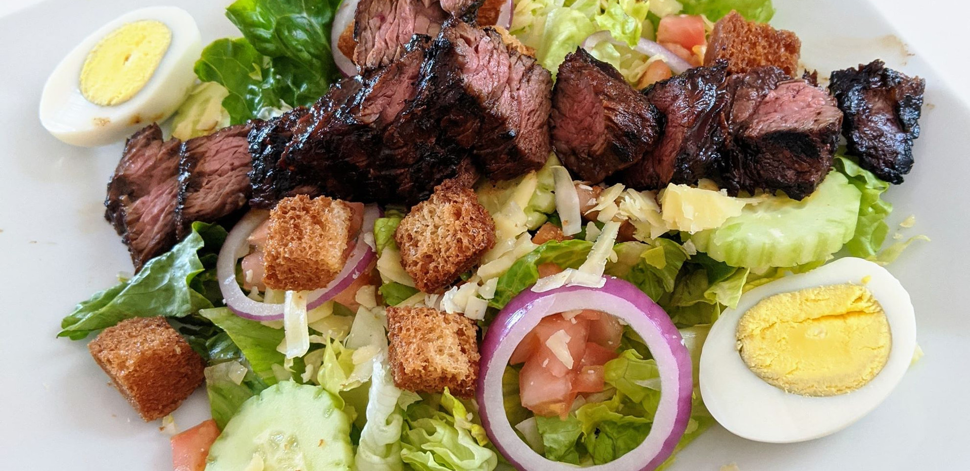 Honey BBQ Steak Chopped Salad