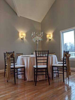 Blush Linen with Chiavari Chairs