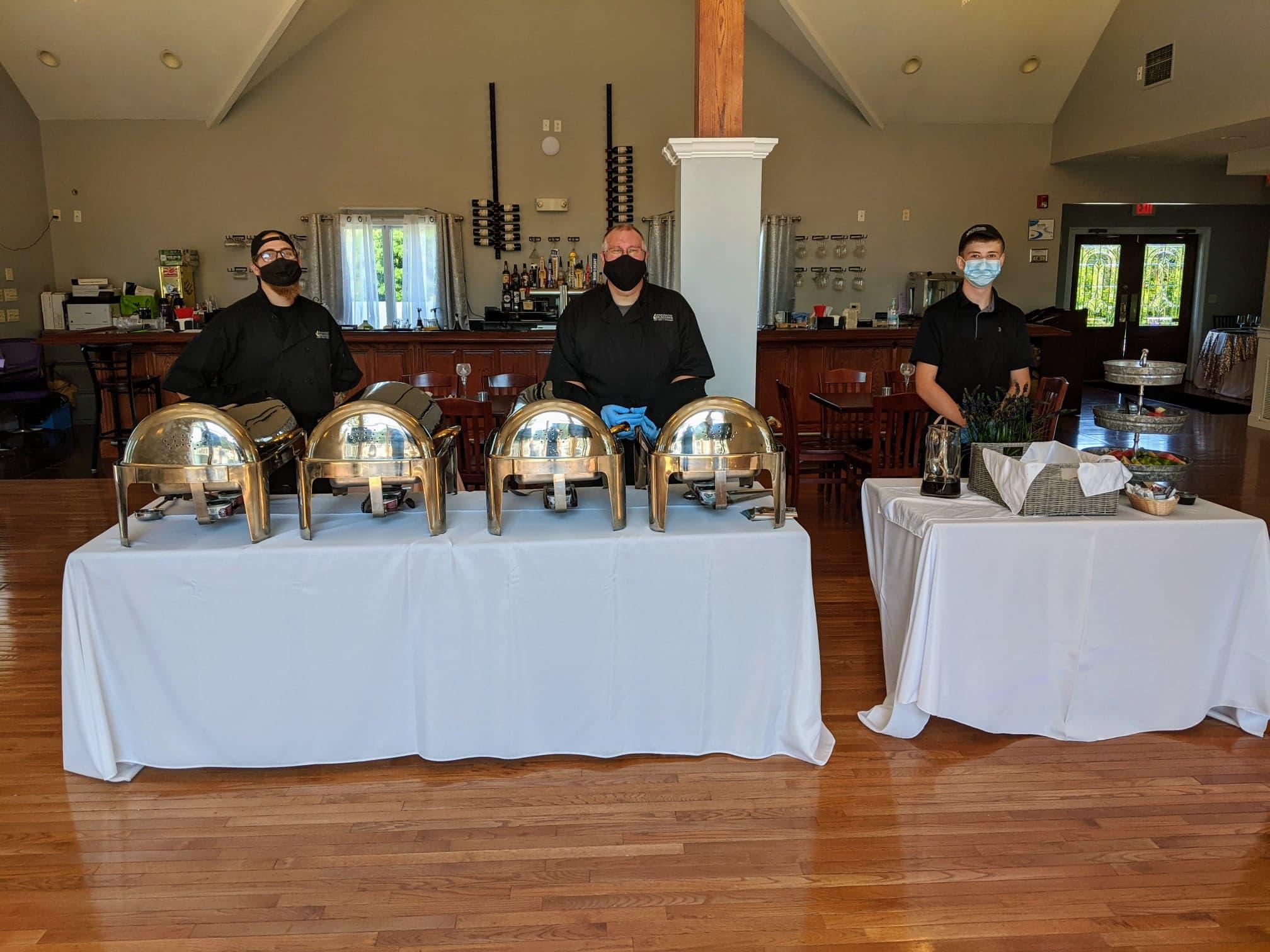 Chefs behind Buffet