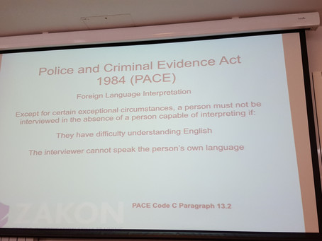 Interpreters: part and parcel of police interviews