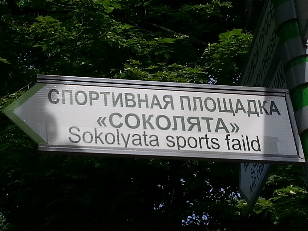 Unexpected translated sign