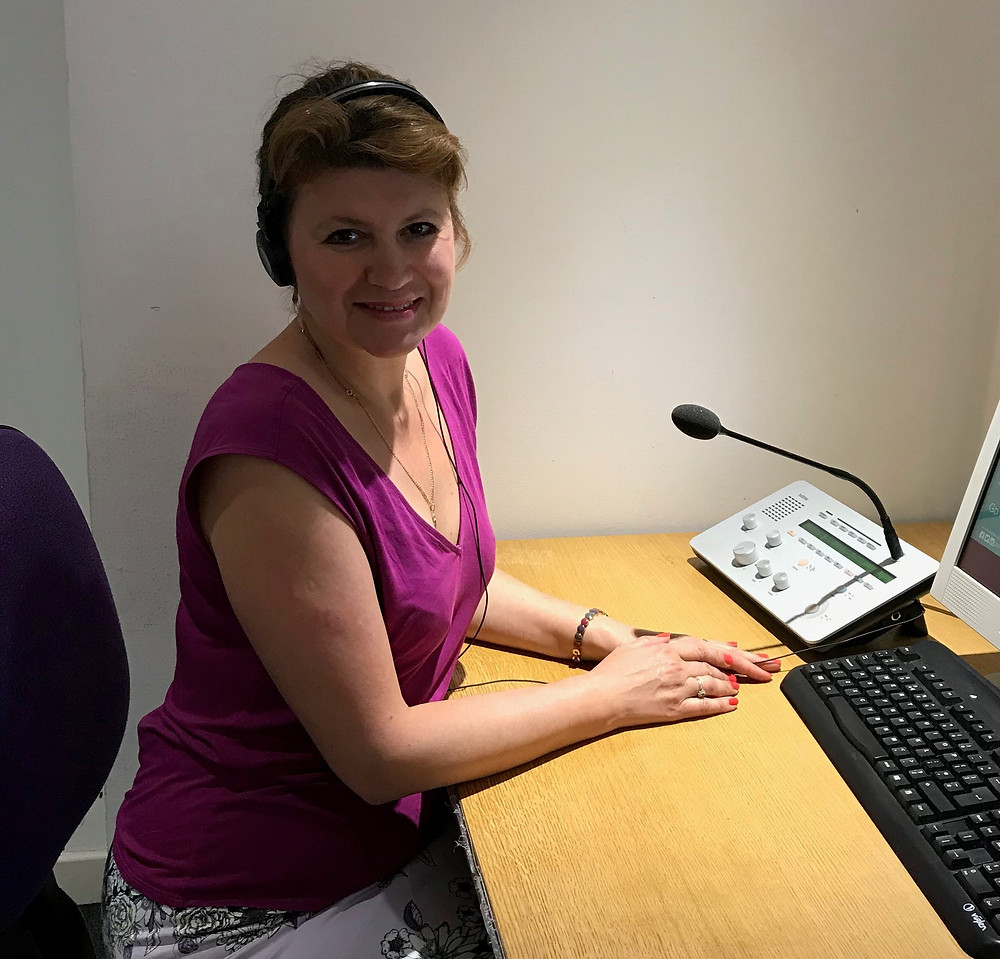 Yelena McCafferty is a trained Russian conference interpreter