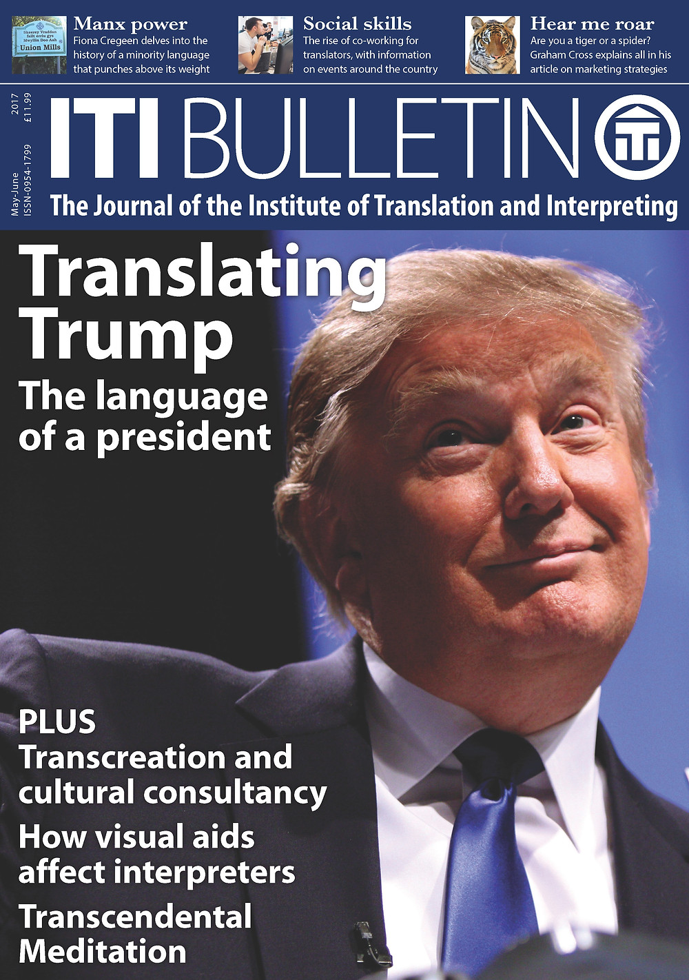 What challenges does the language of Donald Trump pose for translators and interpreters?