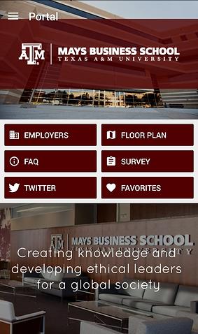 Mays Business Career Fair App