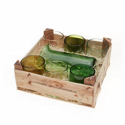 Set Of 6 Small Glasses + Medium Jug