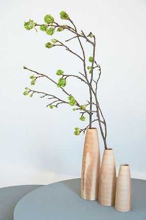 Handturned Wooden Vases High Society by Alexander Ortlieb