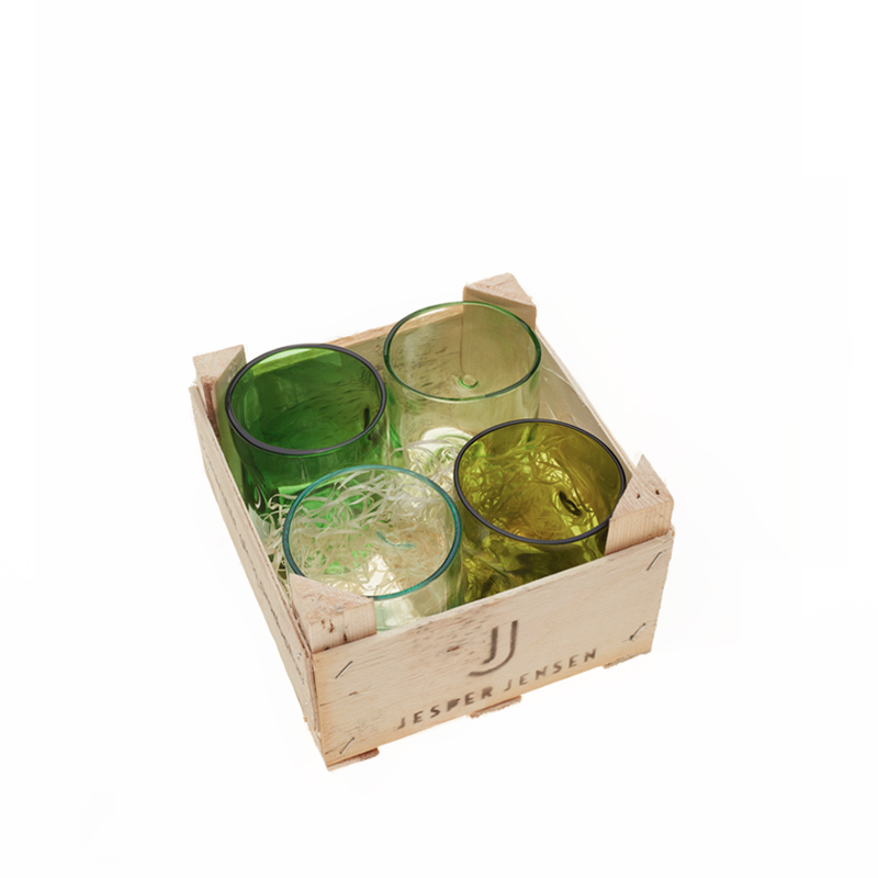 Set Of 4 Small Glasses In The Box