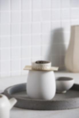 ZAKKIA Two Piece Tea Strainer + Raw Mug