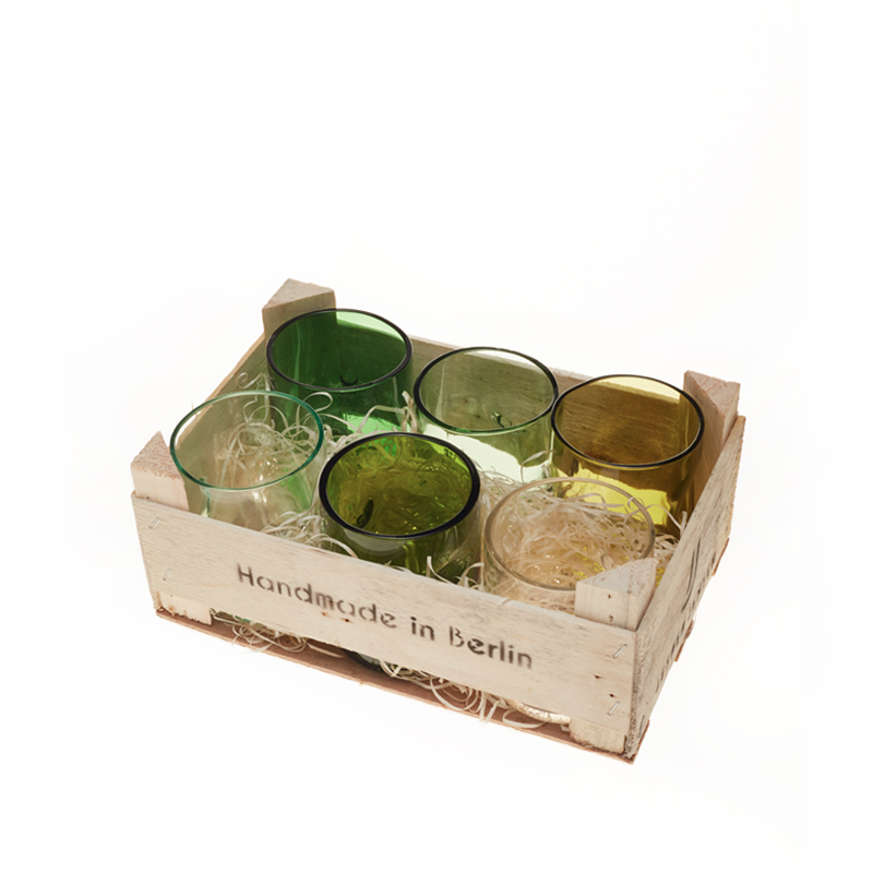 Set Of 6 Small Glasses In The Box