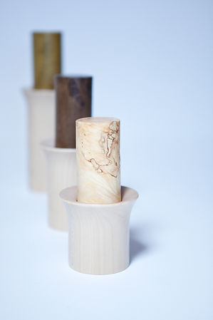 Handturned Wooden Spice Mills Mahl_Gut! by Alexander Ortlieb