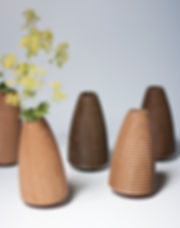 Handturned Wooden Vases Table Dancers by Alexander Ortlieb