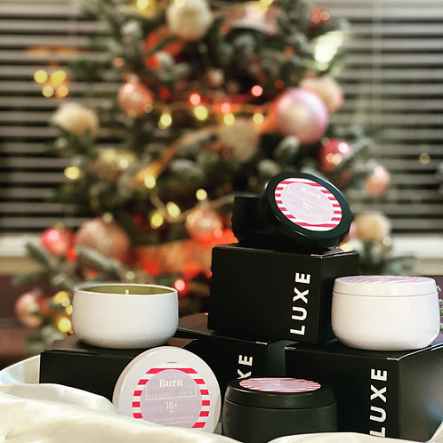 Holiday Delight scented LUXE candles