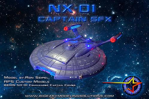 UPGRADE Captain SFX Series: 1:350 NX-01 Starship Light Kit