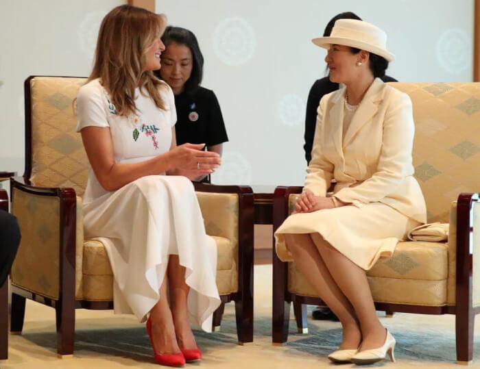 メラニア夫人と会見される皇后陛下